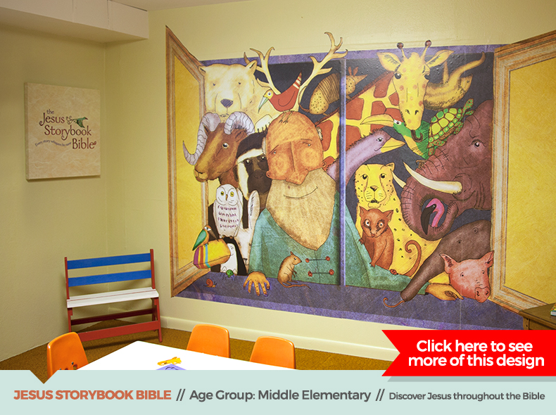 jesus storybook bible theme children's ministry decor from outreach