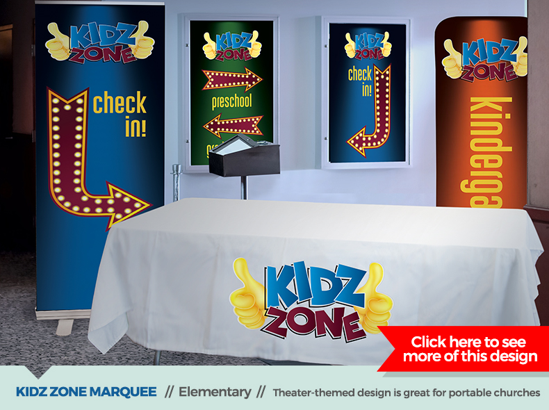 kidz zone marquee theme children's ministry decor from outreach